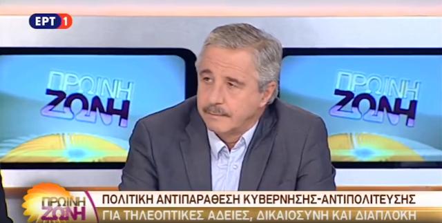 Γ.Μανιάτης στην ΕΡΤ: Οι πολίτες θέλουν δουλειές, όχι συσσίτια (βίντεο)
