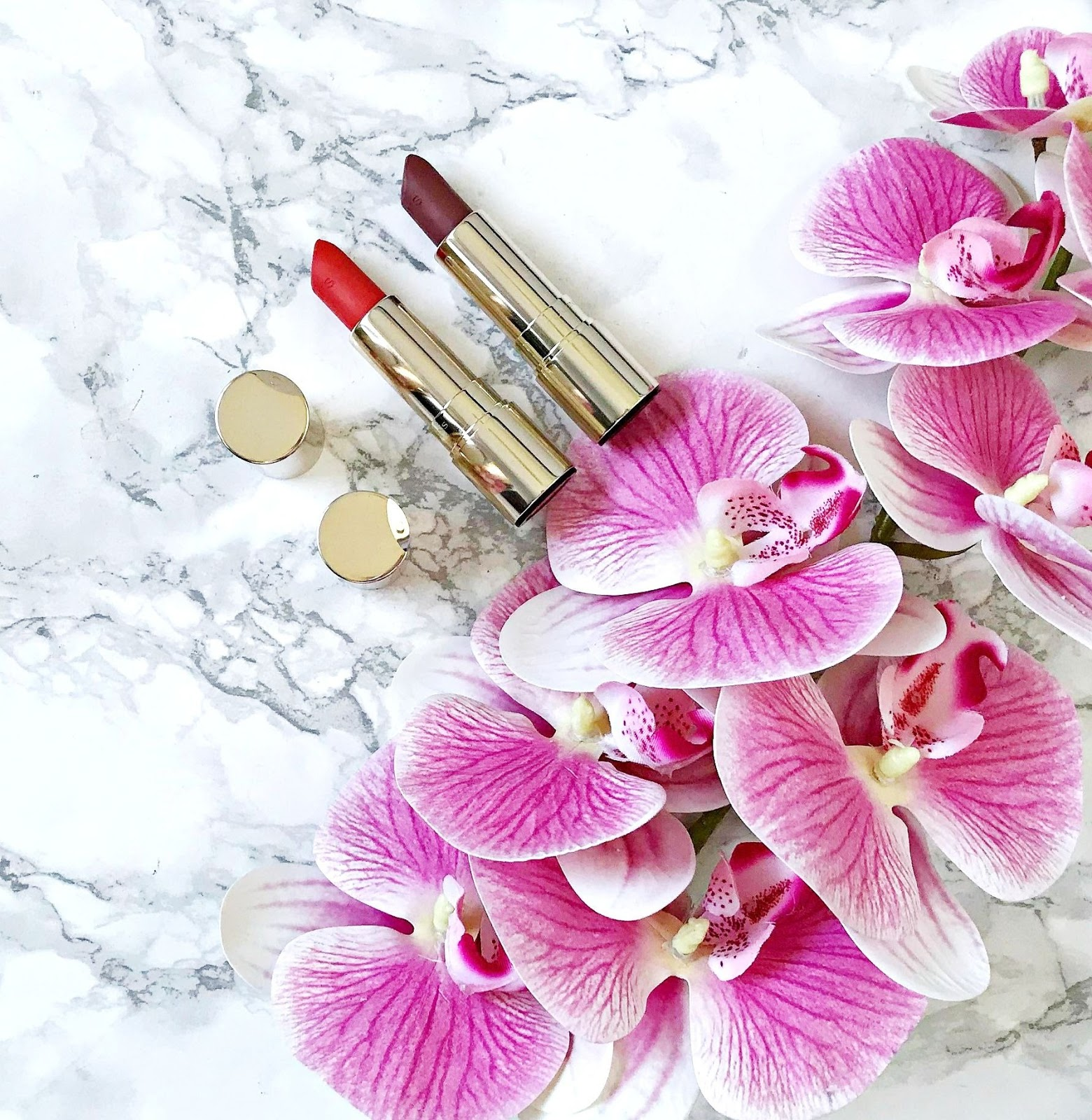 Clarins Joli Rouge Velvet Lipsticks Review & Swatches