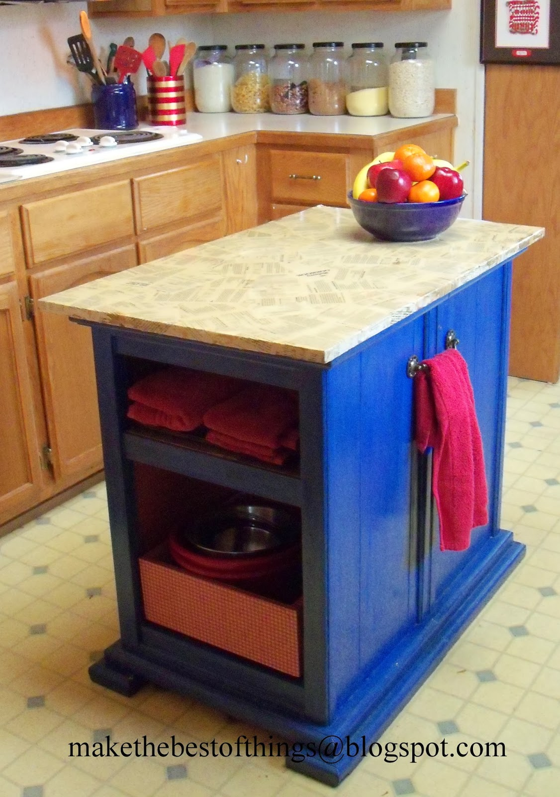 Creating A Kitchen Island: Make The Best Of Things: Nightstands Turned Kitchen Island