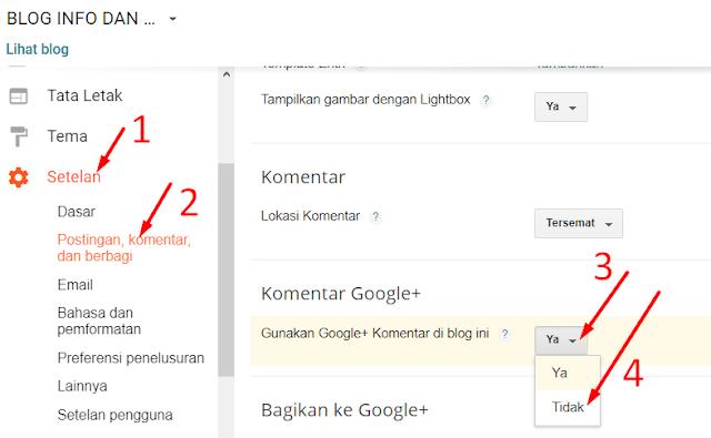Menampilkan  Menu Komentar di Dashboard Blogspot Yang Hilang Di Blog