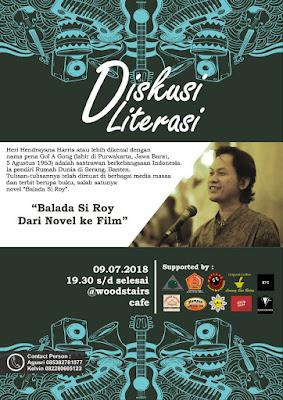 Penulis 'Balada Si Roy' Diskusi Dua Hari di Lampung