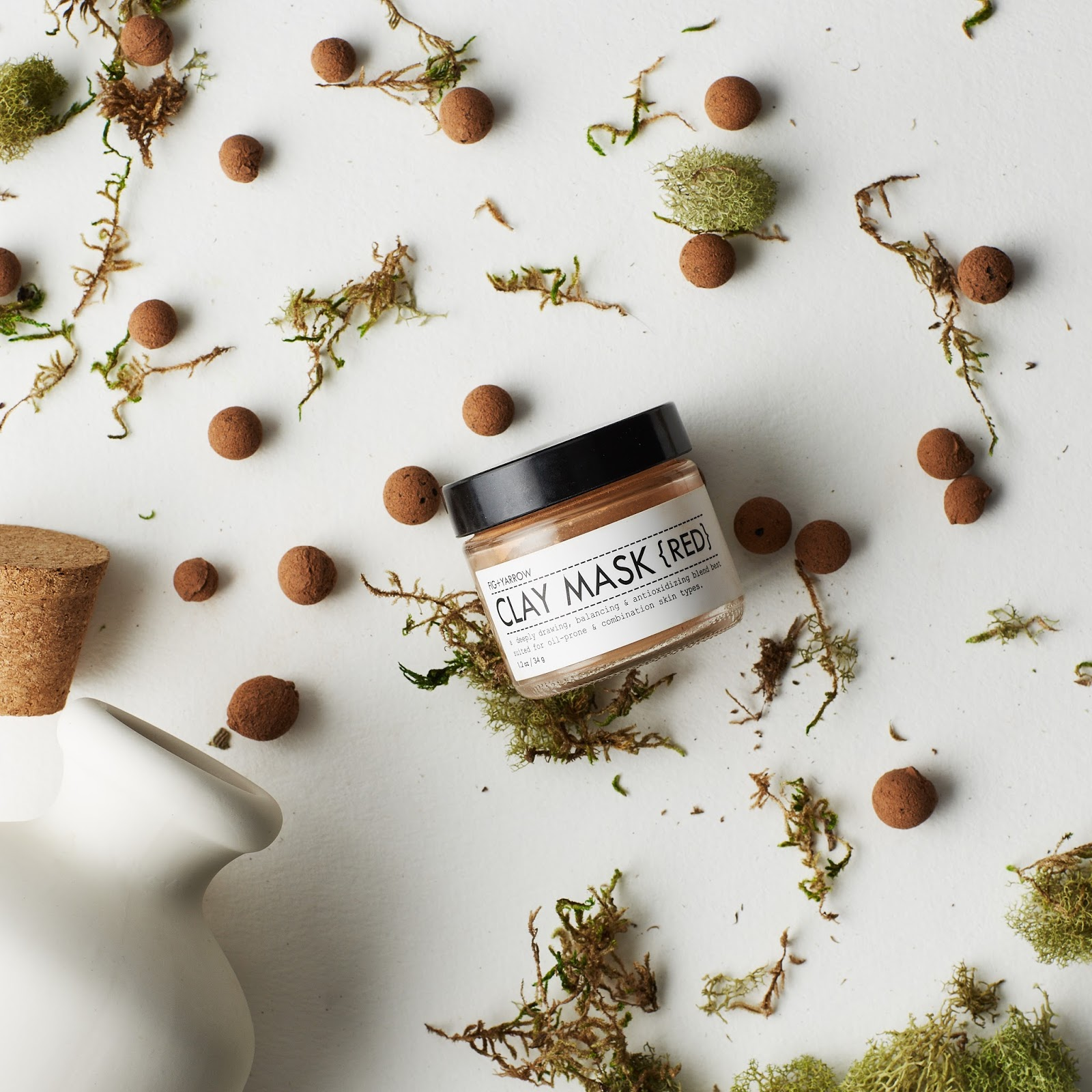 fig and yarrow red clay mask natural skincare