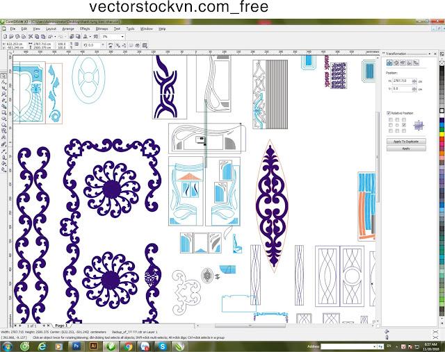 free vector cắt hoa văn 2d