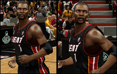 NBA 2K13 Chris Bosh Cyberface w/ Mouthpiece Patch