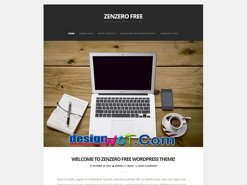 Zenzero  Modern Minimal WordPress Theme