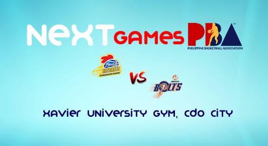 List of PBA Games: February 24, at Xavier University Gym, CDO 2017-2018 PBA Philippine Cup