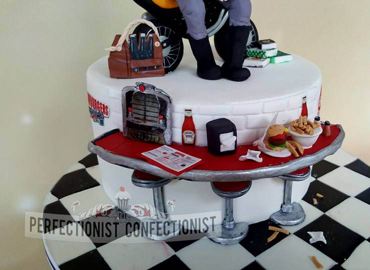 The Perfectionist Confectionist Mark 40th Birthday Cake