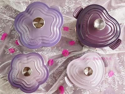 le creuset bluebell purple vs lavender. Black Bedroom Furniture Sets. Home Design Ideas