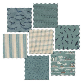 Moda Fabric Rainy Day Puddles Blue Skies Per 1//4 Metre
