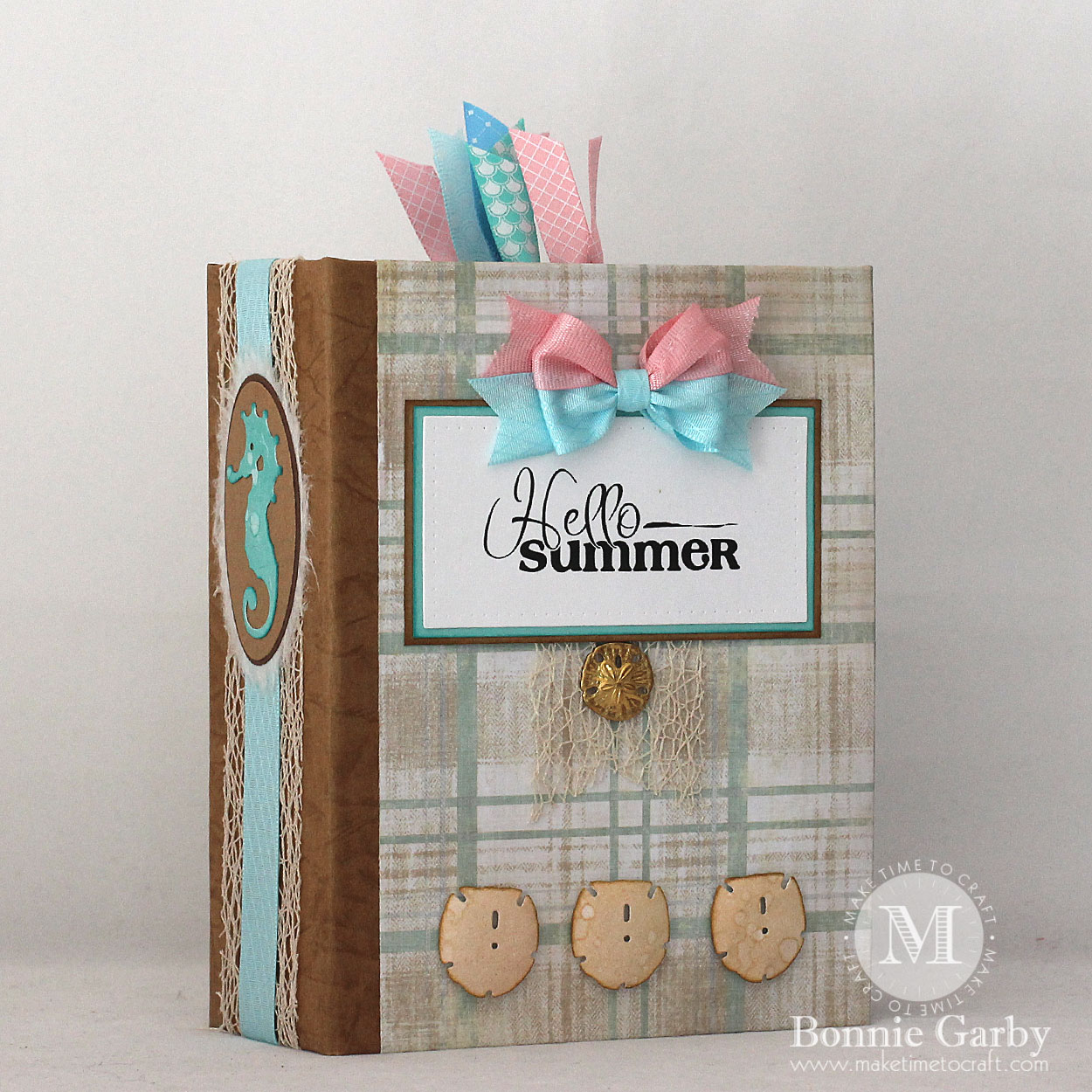 really reasonable ribbon blog  hello summer mini album