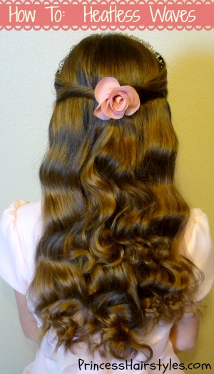 No Heat Wavy Hair How To Hairstyles For Girls Princess