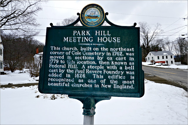 Park Hill Meeting House en Westmoreland, New Hampshire