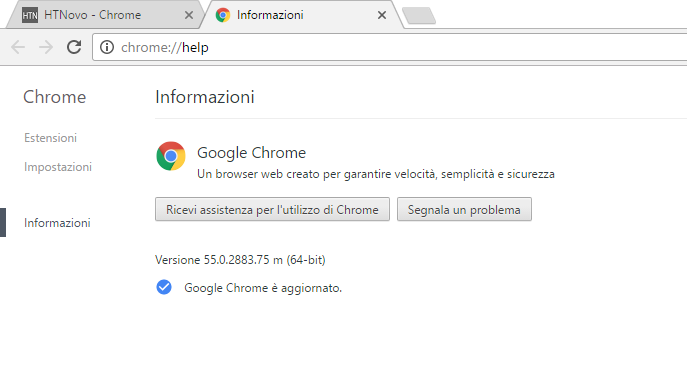 Chrome 55 disponibile, con HTML5 di default e minor utilizzo RAM HTNovo