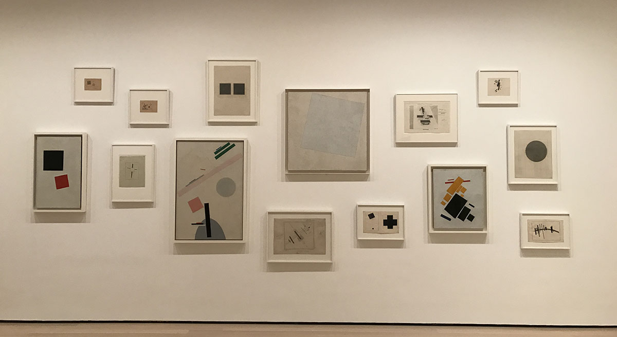 a new abstract visual language emerges in kazimir malevichs suprematism It was not until the pioneering work of vasily kandinsky, kazimir malevich, and mondrian in the early to mid-1910s that painting became truly abstract or by 1915, malevich had invented a new, geometric visual language that he called suprematism - the name he gave to paintings, such as suprematism (eight red.