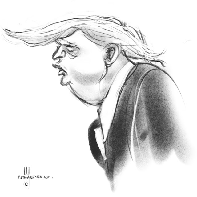 Donald Trump Caricature by Artmagenta
