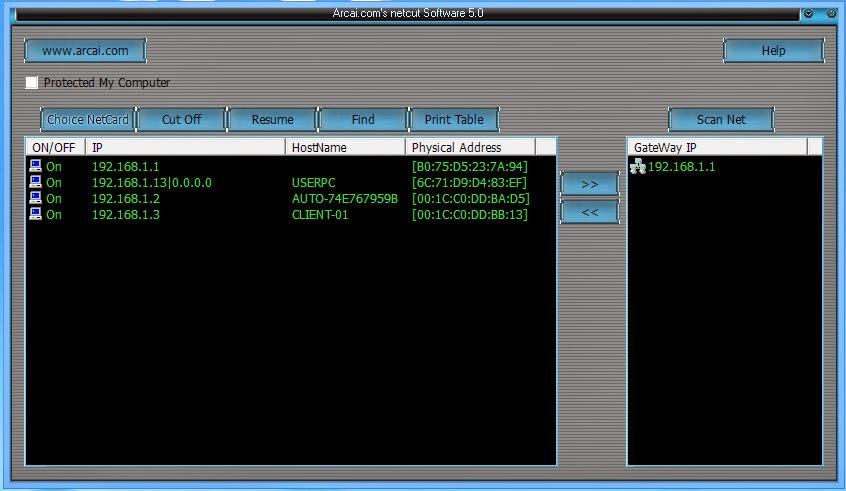 Download NetCut 5.0 Suport Untuk Windows 8
