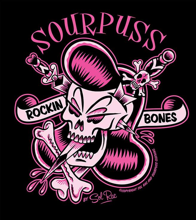 ROCKIN BONES TEE for Sourpuss Clothing