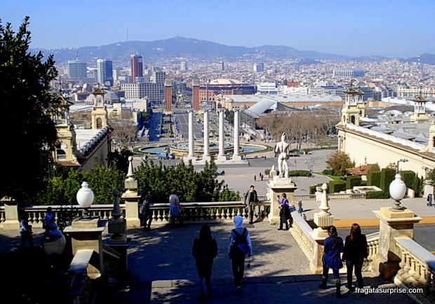 Barcelona vista do Castelo de Montjuic