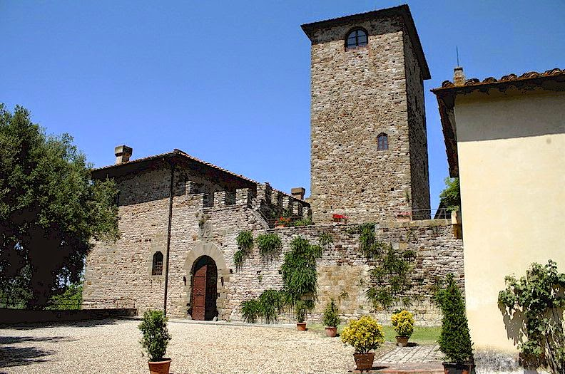 The Castello di Mugnana near Chiocchio in Chianti, Tuscany
