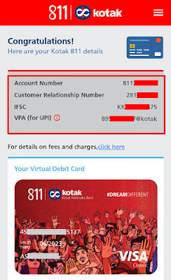 how to open kotak 811 saving bank account online