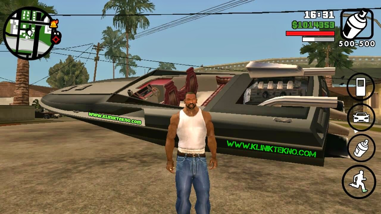GTA San Andreas v1.05 Apk + Data Mod Cheat by Cleo Tanpa Root
