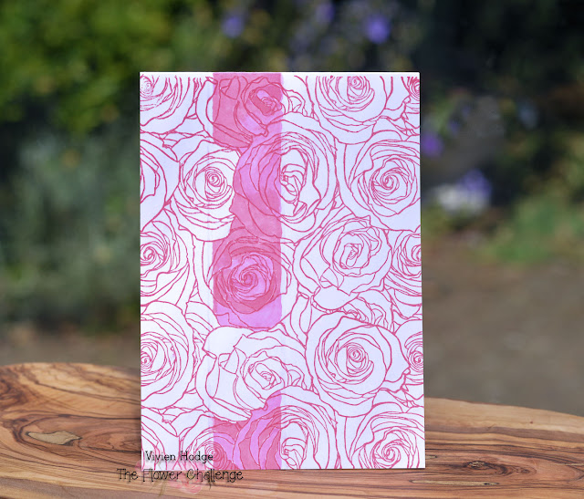 Roses, Flower challenge, One layer card