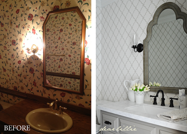 Dear Lillie: Progress in our Powder Room (Before and Almost After)