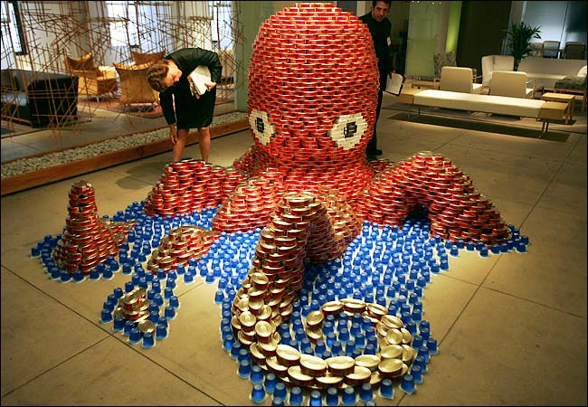 How To Recycle Canstruction Food Cans Sculptures