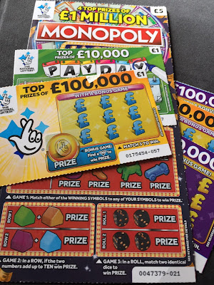 National Lottery Scratch Cards For April 2019