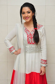 Mehreen Pictures in White Salwar Kameez at Krishna Gadi Veera Prema Gaadha Movie Promotion ~ Celebs Next
