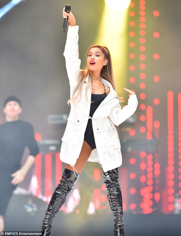 Ariana Grande wears racy leotard for Capital FM Summertime Ball performance