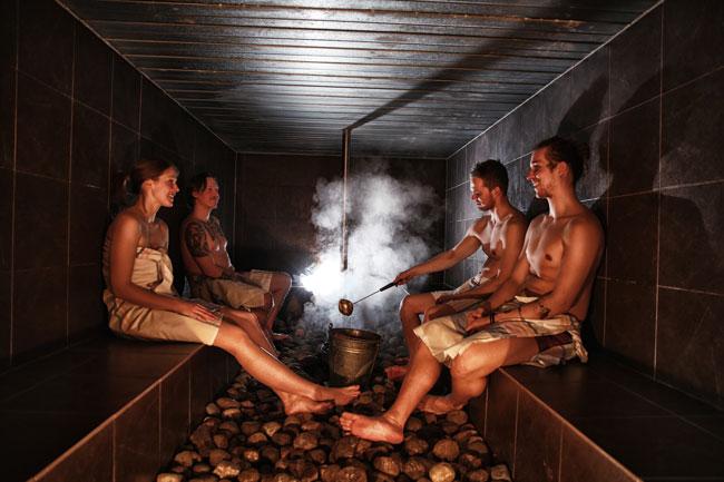 Finnish sauna girls nude think, that