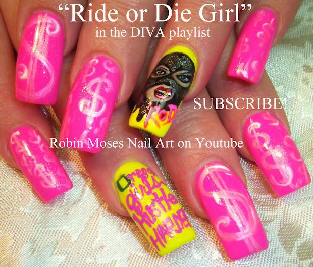 """nail art robin moses """"ride"""