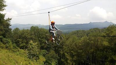 Rute Dan Lokasi Brujul Adventure Park Kebumen, Andalkan Wahana Flying Bike