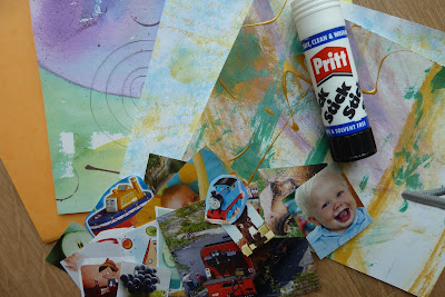 Collage materials and glue