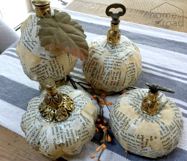 How to Make Newsprint Pumpkins