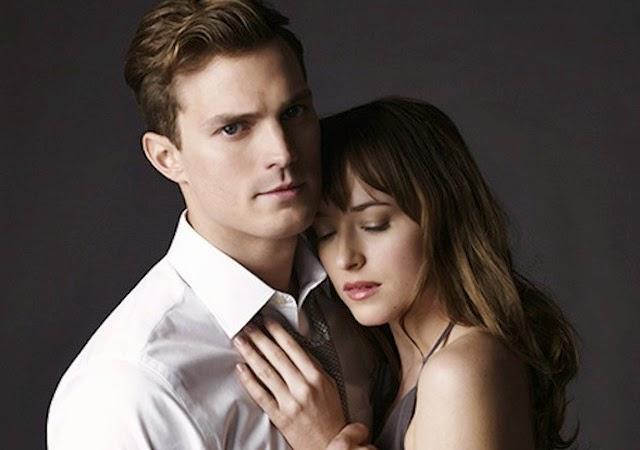 Foto de Christian Grey y Anastasia Steele de la película 50 sombras de Grey