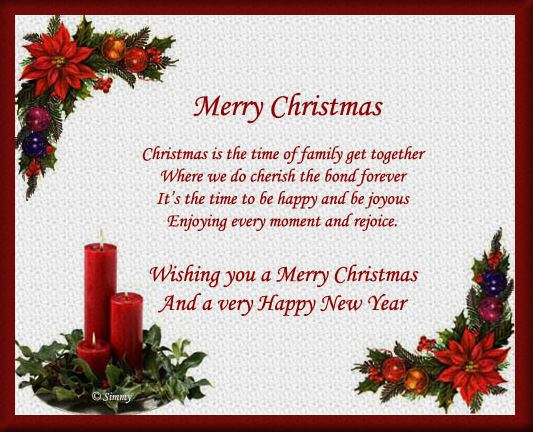 Xmas Greeting Word Merry Christmas and Happy New Year Wishes