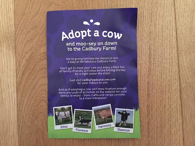 Cadbury Adopt a Cow leaflet