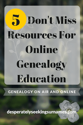 5 Online Genealogy Resources for Family History Research - YouTube channels and podcasts you will want to subscribe to.