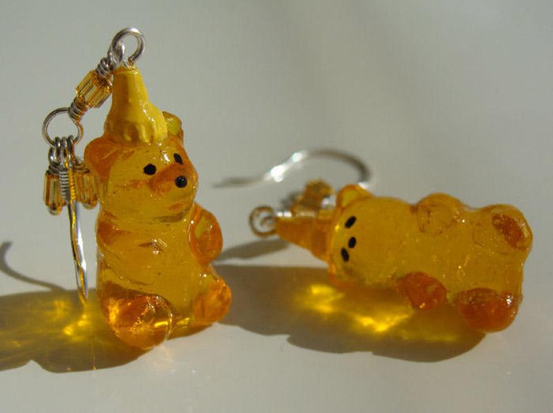 honeybear earrings