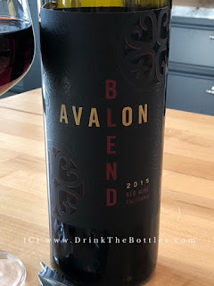 2015 Avalon Red Blend Label