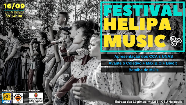 Com Avante O Coletivo, Bivolt e Max B.O., 8ªa edição do Festival Helipa Music será domingo (16)