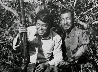 Suzuki and Hiroo Onoda - The image was intended to be a proof that Hiroo Onoda was alive