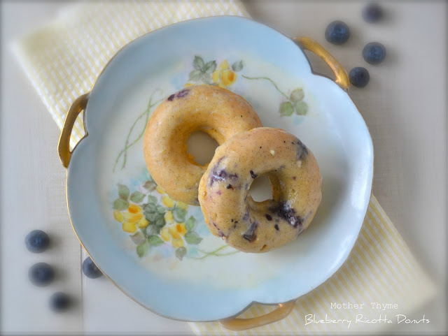 Blueberry Ricotta Donuts