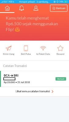 Pengalaman Pertama Menggunakan Aplikasi Flip Untuk Transfer Antar Bank Bebas Biaya