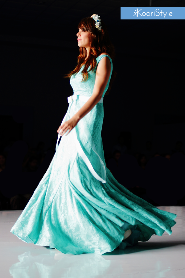 KooriStyle, Fashion, Runway, Dress, Lace, Flowers, FashionDesign, Design, Green, Mint