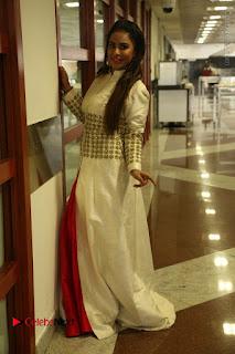 Telugu Actress Sri Reddy Mallidi Stills in White Beautiful Dress at Marriage Needs Bridal Fashion Week 2017 Logo Launch  0039.JPG