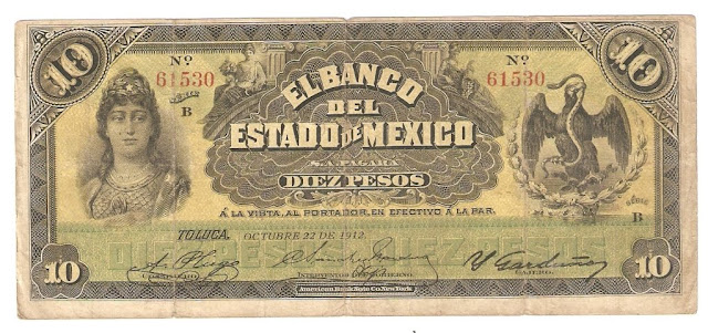 Billete de 10 pesos Billetes Mexicanos