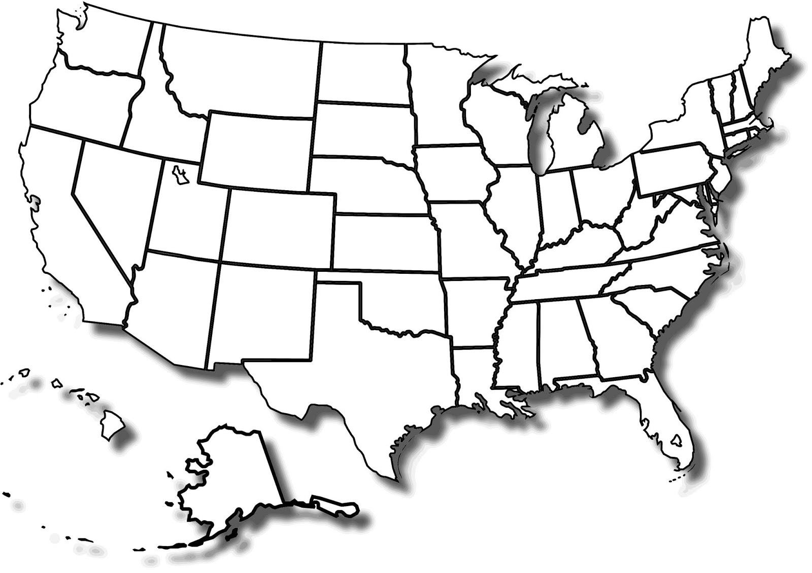USA Blank Map | Blank America Map